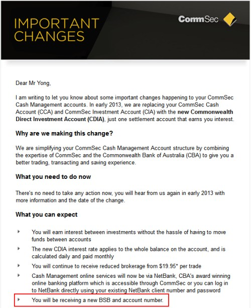 Trade online and settle your trade to a CDIA or CommSec Margin Loan 2 a Commonwealth Direct Investment Account (CDIA) or a CommSec Margin Loan. CommSec - CommBank.